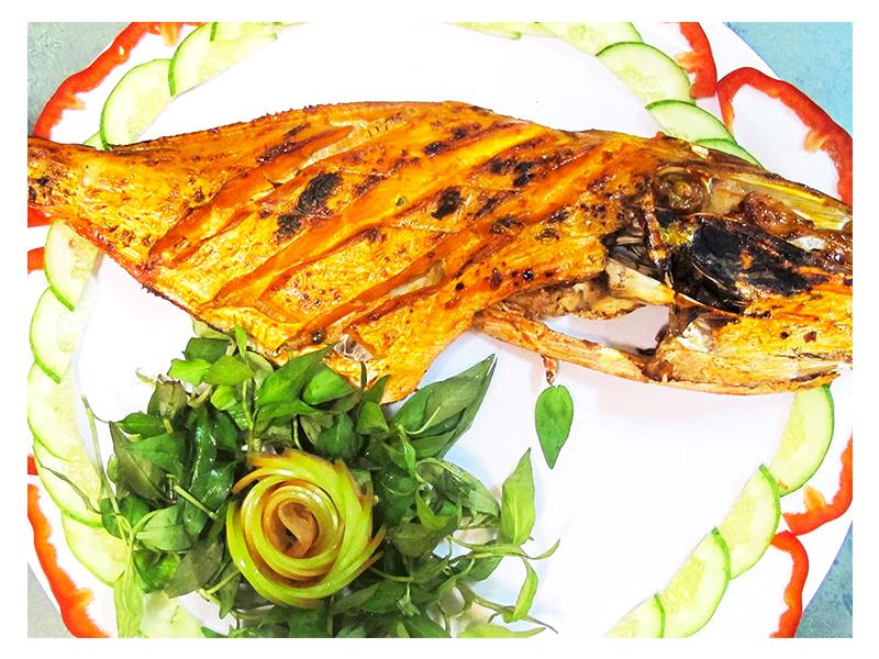 Cá mú nướng sa tế Phú Quốc